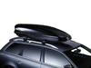 Dachträger Thule mit WingBar Black VOLKSWAGEN Cross Polo 5-T Hatchback Dachreling 06-09