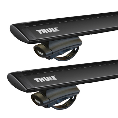 Dachträger Thule mit WingBar Black VOLKSWAGEN Cross Polo 5-T Hatchback Dachreling 10+