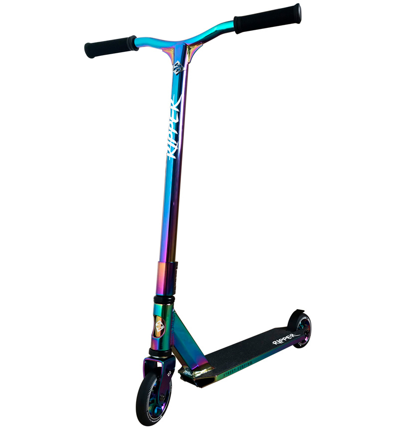!FAULTY!Freestyle Stunt-Scooter Street Surfing RIPPER Neo Chrome