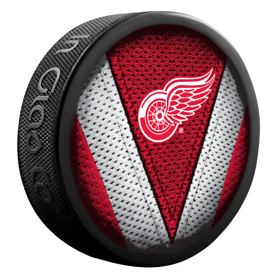 Puck Sher-Wood Stitch NHL Detroit Red Wings